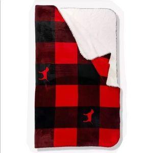 Victoria's Secret PINK Soft Sherpa Blanket Red NEW